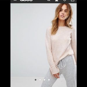 Asos Micha Lounge Tie Sleeve Sweater